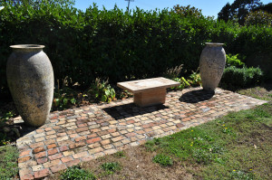 Repurposed bricks from Chan Dah Chee's market garden now at the Ah Chee family home
